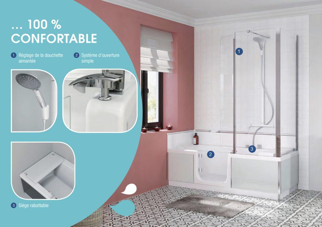 baignoire porte senior kinedo duo marseille baignoire s curis e. Black Bedroom Furniture Sets. Home Design Ideas